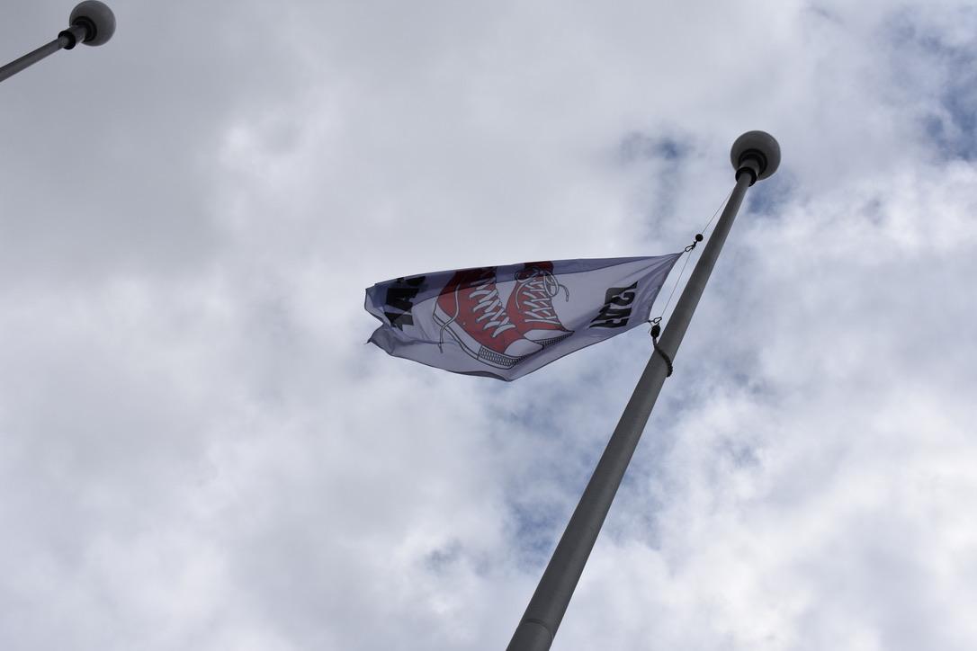 FASD Flag flying at City Hall