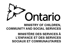 Ontario Ministry of Children, Community and Social Services logo
